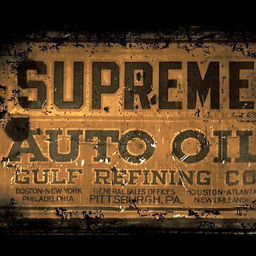 Vintage Supreme Motor Oil USA by midcenturydave