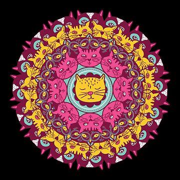 Mandala Cats by soondoock