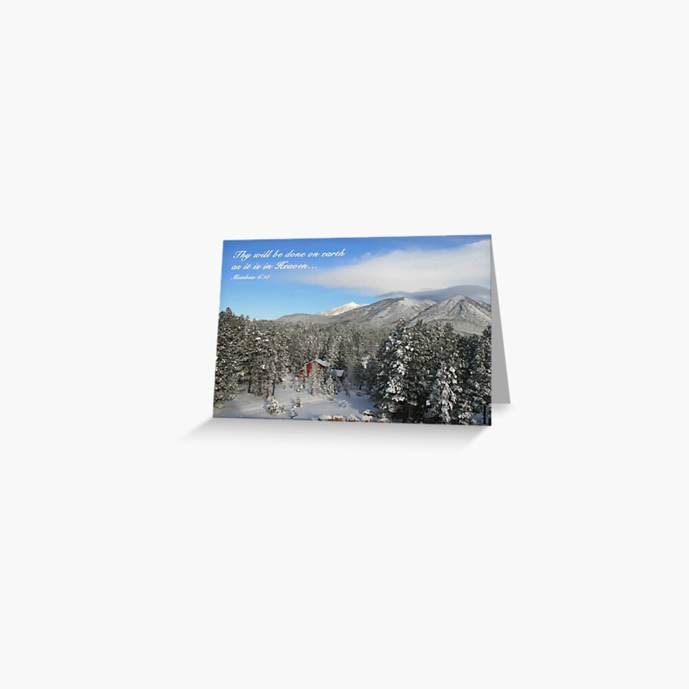 Winter Card with Snow, Red House - From ccnow.info Greeting Card