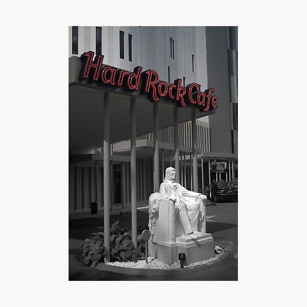MJ On The Rocks Photographic Print