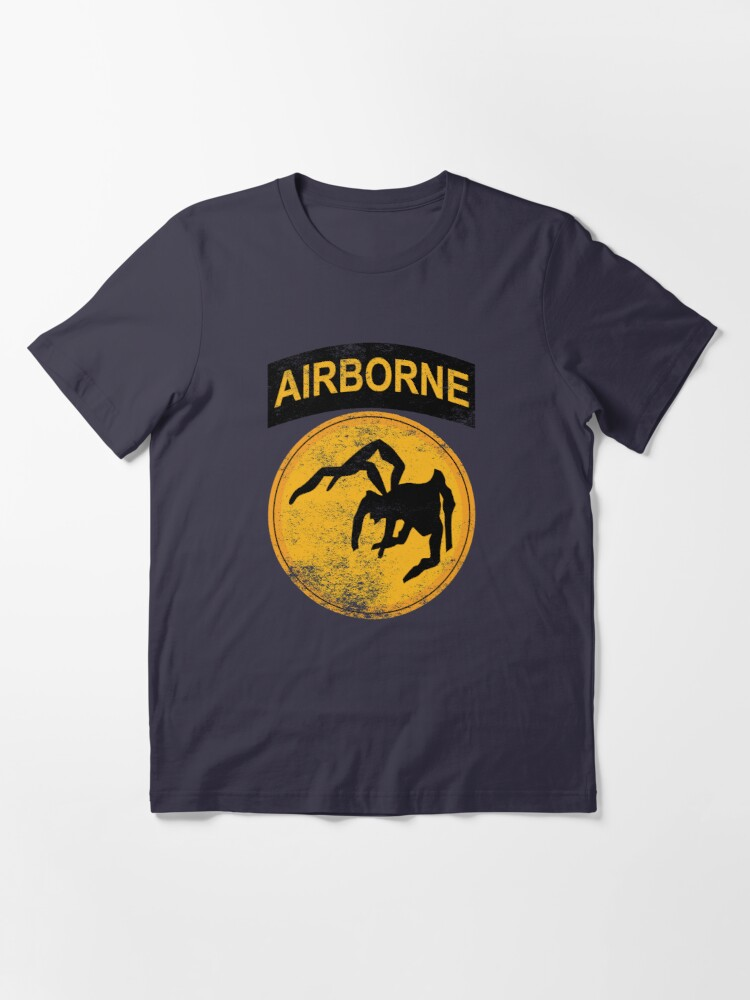 Alternate view of WW2 135th Airborne Division Parachute Patch Shirt Gear Essential T-Shirt