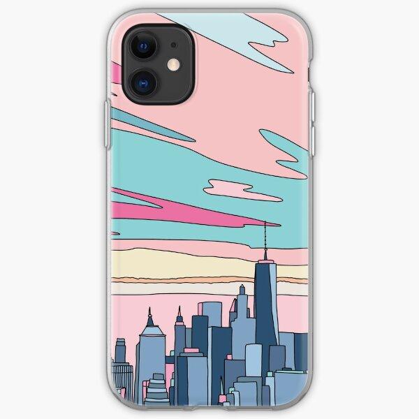 City sunset by Elebea iPhone Soft Case