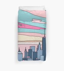 City sunset by Elebea Duvet Cover