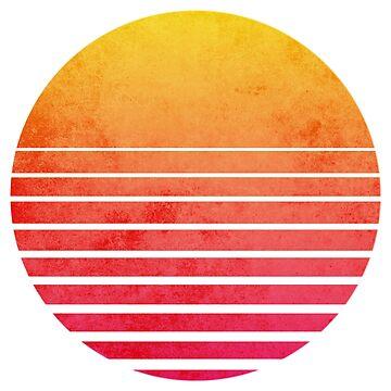 Vintage Outrun Retro Sun by mullelito