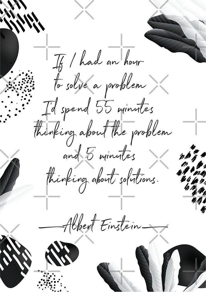 Albert Einstein Black And White Inspirational Quote By Bonbcreative Redbubble