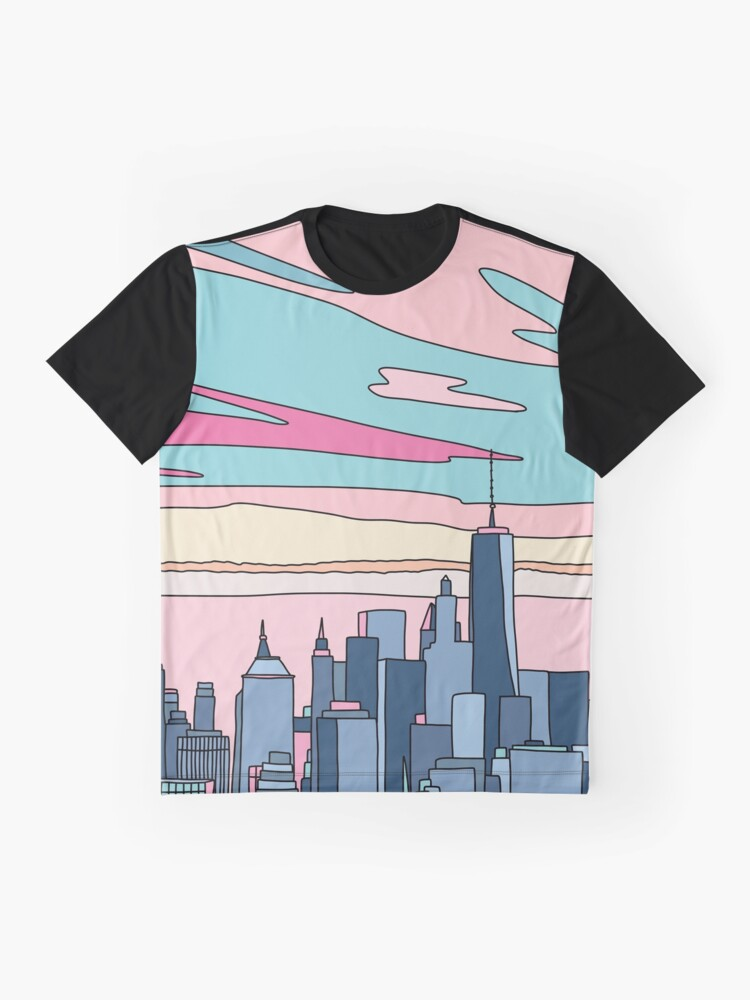 Alternate view of City sunset by Elebea Graphic T-Shirt