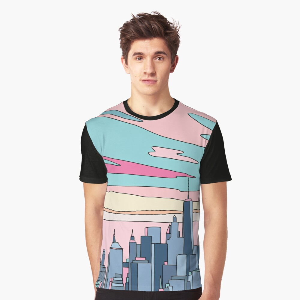 City sunset by Elebea Graphic T-Shirt