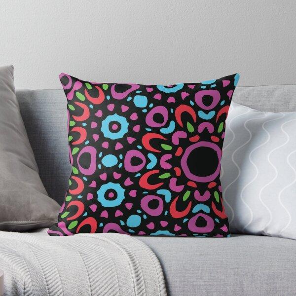 Floral Abstract Multi Colour Mandala 3 Throw Pillow