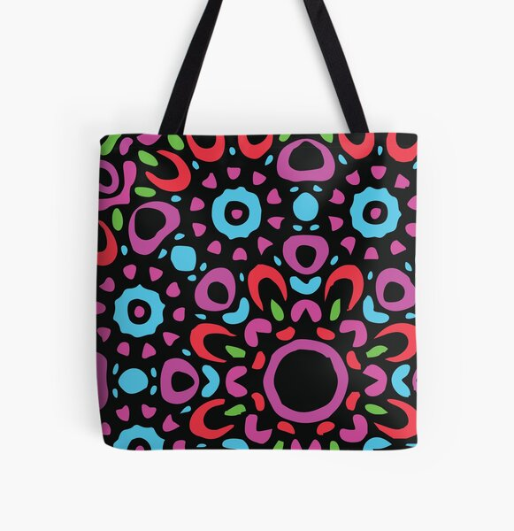 Floral Abstract Multi Colour Mandala 2 All Over Print Tote Bag