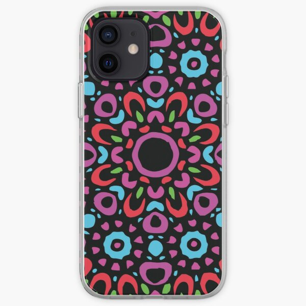 Floral Abstract Multi Colour Mandala 1 iPhone Soft Case