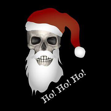 Merry Christmas - Skull Santa Claus by Dagostino