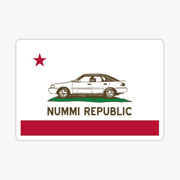 Welcome to the NUMMI Republic! Sticker