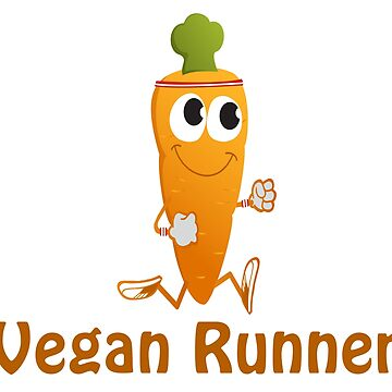 Awesome Running Carrot Vegan Runner by Eggtooth