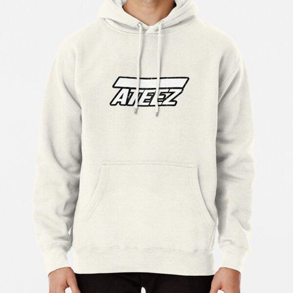 ATEEZ Logo Style vintage en détresse Sweat à capuche épais