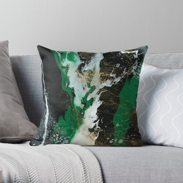 Emerald Pearl Throw Pillow