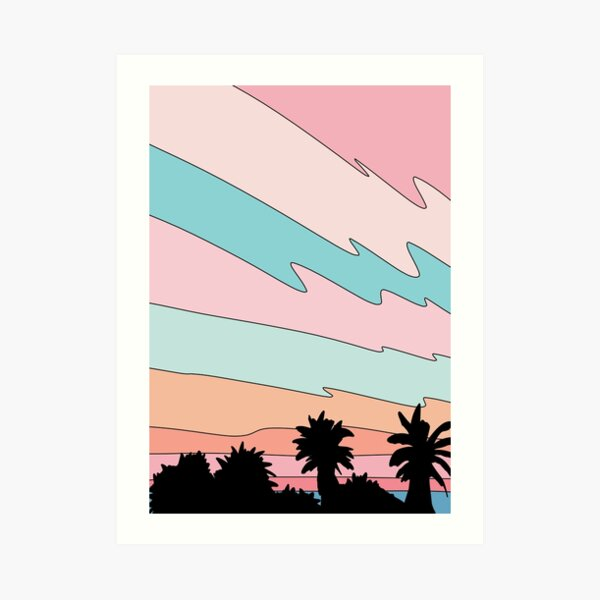 Beach sunset by Elebea Art Print