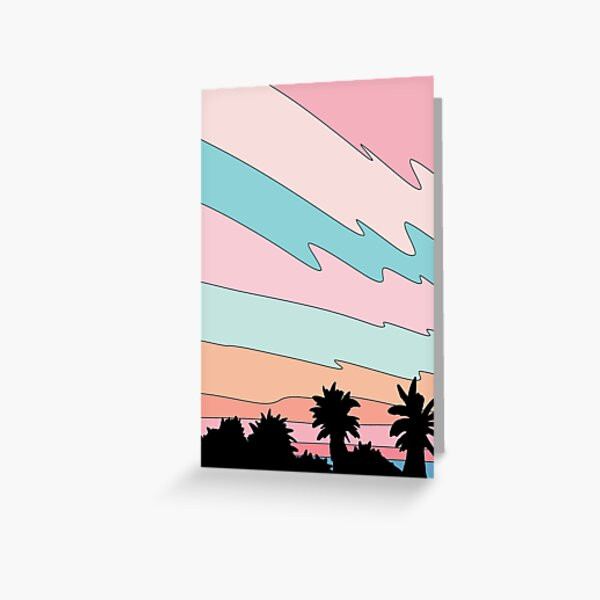 Beach sunset by Elebea  Greeting Card