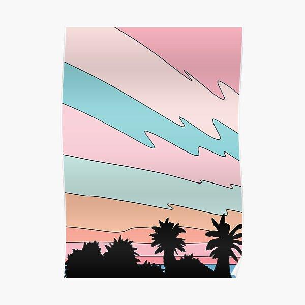 Coucher de soleil sur la plage par Elebea Poster