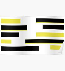 black and yellow  Poster