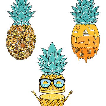 pineapple stickers by coffeeman