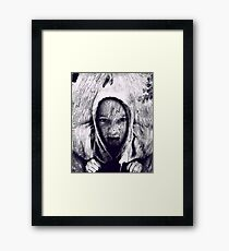 Hood in the Wood Framed Print