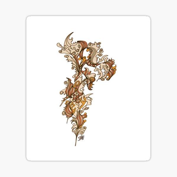 golden flower Sticker