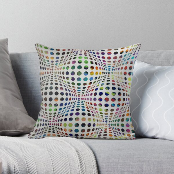 Homage (To Victor Vasarely) Throw Pillow
