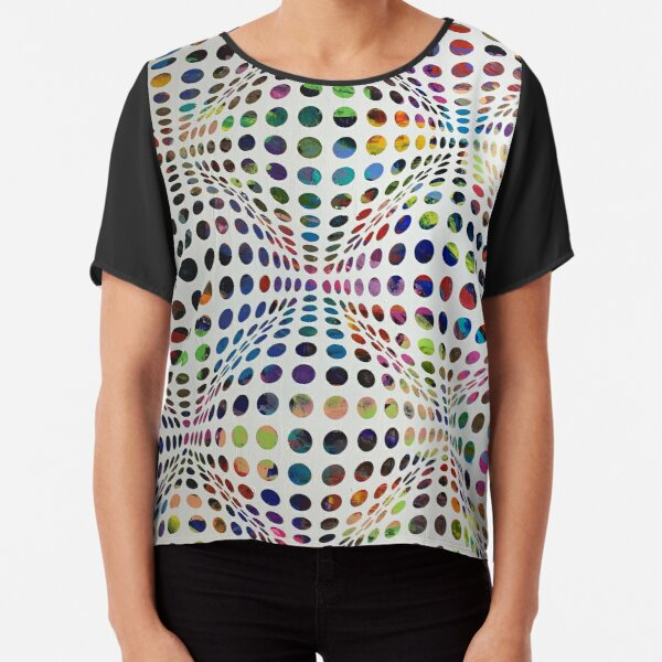 Homage (To Victor Vasarely) Chiffon Top
