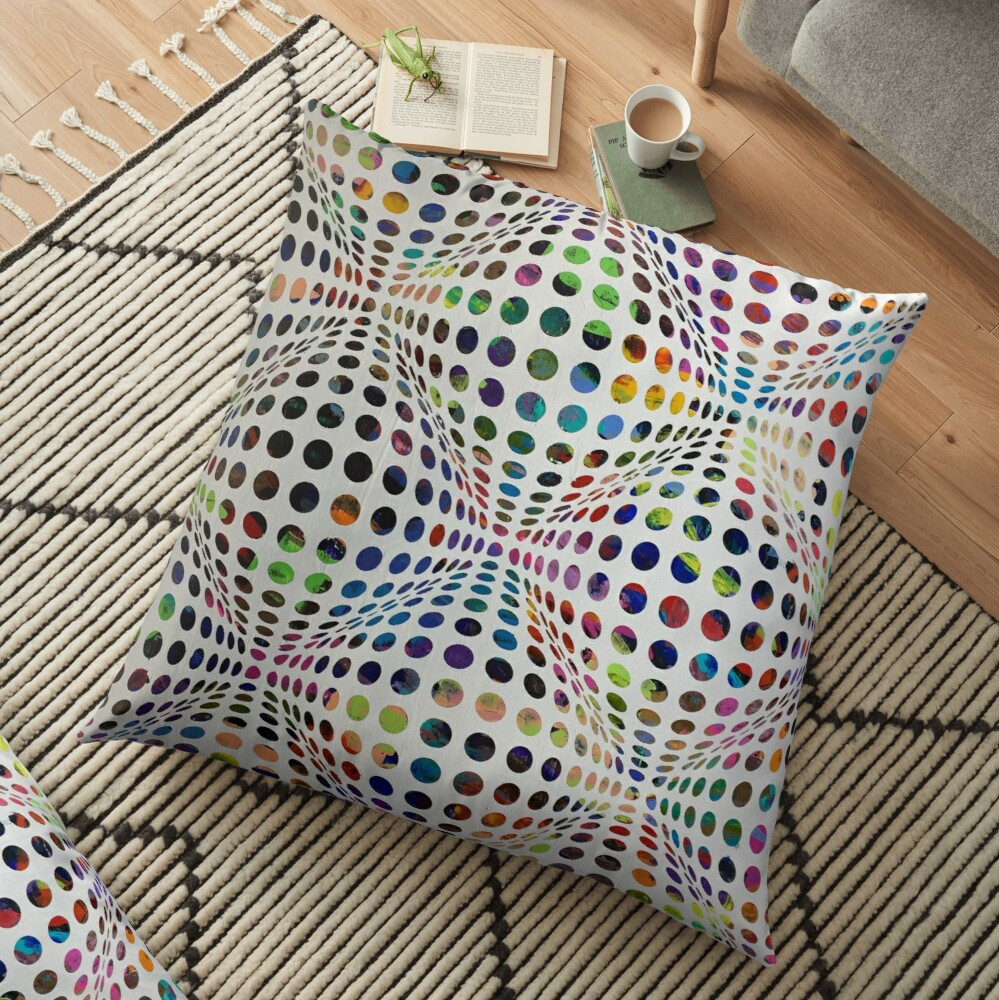 Homage (To Victor Vasarely) Floor Pillow