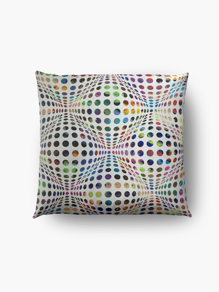 Alternate view of Homage (To Victor Vasarely) Floor Pillow