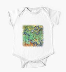 Irises, Vincent van Gogh One Piece - Short Sleeve