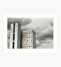 Soviet Building, Moscow, Russia Art Print