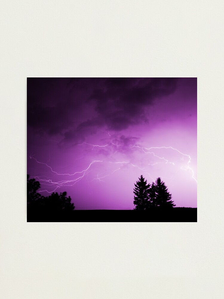 Alternate view of Stormy Skies Purple Photographic Print