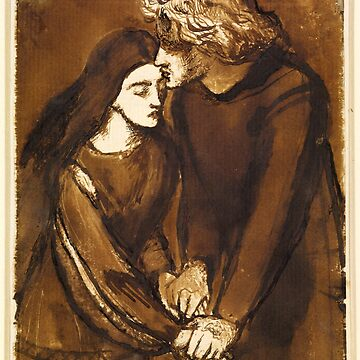 "Dante Gabriel Rossetti ""Lovers"" by ALD1"