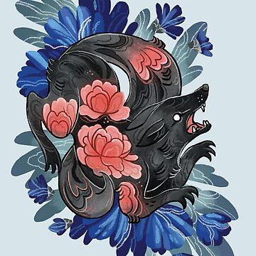 Black Wolf  by michelledraws