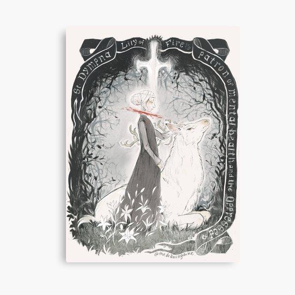 Saint Dymphna  Canvas Print
