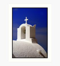 Santorini Chruch Art Print