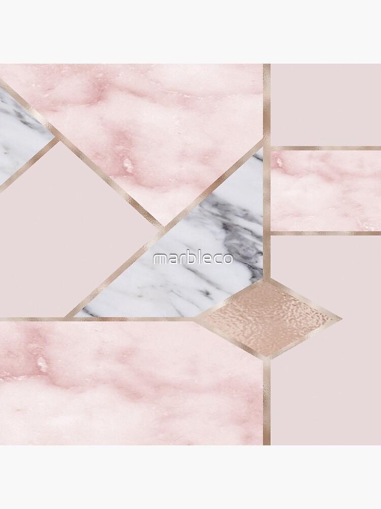 Mezcla geométrica - oro rosa de marbleco
