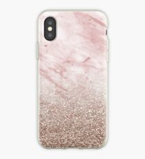 Roségold Champagner Glitter Farbverlauf iPhone-Hülle & Cover