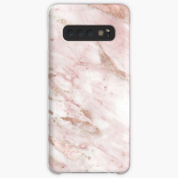 Pink marble - rose gold accents Samsung Galaxy Snap Case