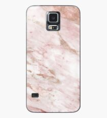 Pink marble - rose gold accents Case/Skin for Samsung Galaxy