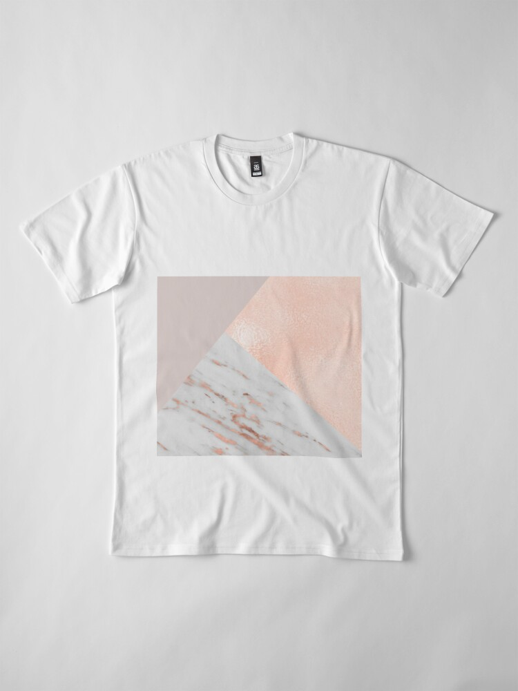 Alternate view of Blush pink layers of rose gold and marble Premium T-Shirt