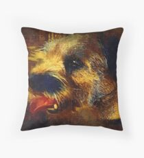 Butch painted Throw Pillow