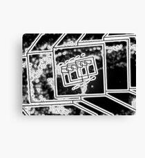 Cube Mirror - Water Canvas Print