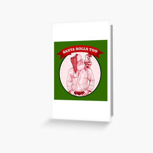 Santa Claus jiu jitsu, judo - Christmas bjj - happy elf Greeting Card