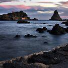 Aci Trezza al tramonto by Andrea Rapisarda
