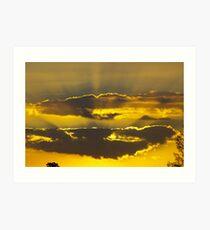 sunset packenham victoria Art Print