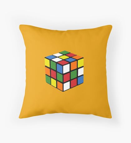 Cheap 1980s knock-off puzzle cube Throw Pillow