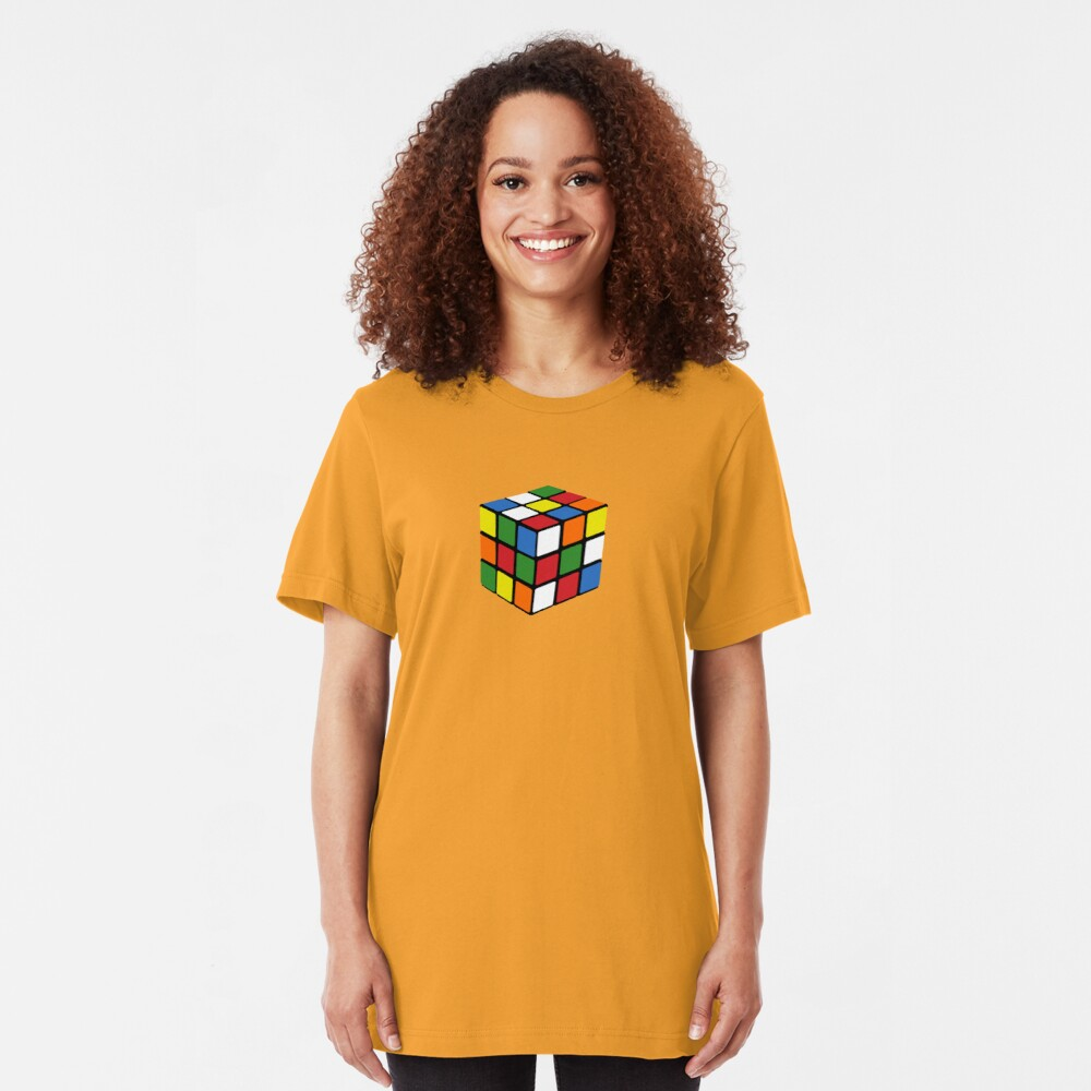 Cheap 1980s knock-off puzzle cube Slim Fit T-Shirt