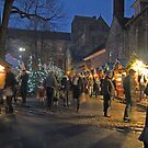 Christmas Market, Winchester Cathedral Close, southern England by Philip Mitchell